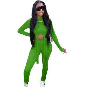 Kadınlar Tasarımcı Yığın Pant Tracksuits Casual 2 Adet Solid Renk Pantolon Şık İlkbahar Sonbahar İki adet Kıyafet