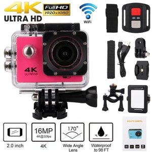 Action Camera Underwater Waterproof Camera Sports Cam 4k 16MP 170° Wide Angle 2 inch with WiFi Remote Mounting Accessories