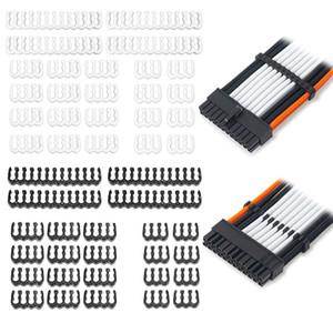 1Set 24Pin x 4 x 12 8Pin 6Pin PP cavo pettine morsetto / clip / Dresser per 3,4 millimetri Kit PXPA