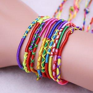 Christmas Bracelet Girls Luxury Colorful Purple Infinity Bracelet Handmade Jewelry Cheap Braid Cord Strand Braided Friendship Bracelets