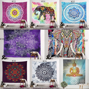 150 * 130cm Bohemian Tapestry Mandala Strandtücher Hippie Wurf Yoga-Matte Handtuch Indian Polyester Wandbehang Decke Dekor EWB1961