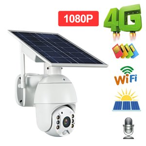 1080P HD Solar Panel Outdoor Monitoring Waterproof CCTV Camera Smart Home Two-way 4G WIFI Voice Intrusion Alarm Long Standby