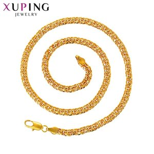 Xuping Luxury New Arrival Temperament Trendy Vintage Long Pure Gold Color Plated Necklace for Men Gifts Jewelry S193,1-44798