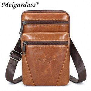 Genuine Leather Shoulder Bag Men Messenger Bag Travel Waist Belt Bags Male Phone Pouch Purse Crossbody Bags Casual Fanny Pack uqdT#