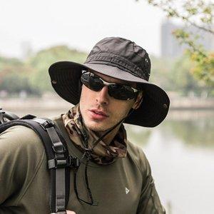 Unisex Bucket Hat Summer Spring men's Bucket Hats big Wide Brim Camping fishing Hiking hats Outdoor sun shadow waterproof Hat
