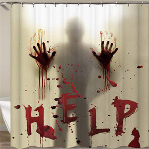 Halloween Shower Curtain Liner window Tenda mani insanguinate per Halloween Decorazione Bagno Decor 71 pollici JK2009XB