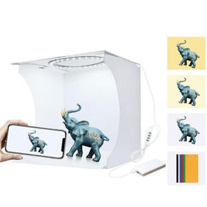 Mini Photobox Studio LED Panel Foto-Licht-Weiß-weicher Kasten-Ring-Licht Folding Tragbarer Leuchtkasten Schießen Tent Kit für Fotografie