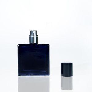 30ML / 1온스 블랙 리필 향수 병, 주걱 스프레이 휴대용 광장 빈 유리 향수 분무기 병