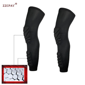 Profession Football Shin Guards Protector Soccer Honeycomb Anti-crash Leg Calf Compression Cover Cycling Running Sport knee pads
