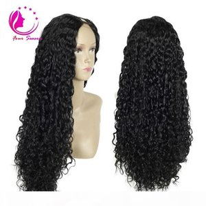 150Ddensity Peruvian Human Hair U Part Wigs Loose Curly UPart Human Hair Wig Unprocess Hair Middle Part For African Americans