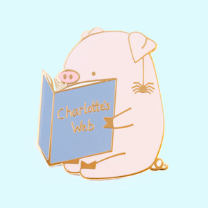 Comédie Film Charlottes Webs dur émail Pin Cartoon Mode Pastel Animaux Or Broche mignon Piggy Wilbur et Spider Amitié