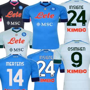 20 21 Napoli Mavi Uzakta Siyah Insigne Mertens Erkekler Futbol Forması Koulialy Milik H.lozano Hamsik Napoli Camiseta De Fútbol Futbol Gömlek 2021