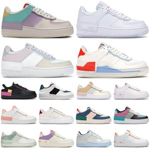 nike air force 1 af1 shadow shoes forces airforce one Günstige Schuhe für Männer Frauen Mode Sneakers Triple White Pale Ivory Washed Herren Turnschuhe Casual Jogging Walking