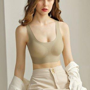 Non Taille Vest Soutien-gorge Femmes Latex sans couture Soie Ice Bra Sous-vêtements de maternité