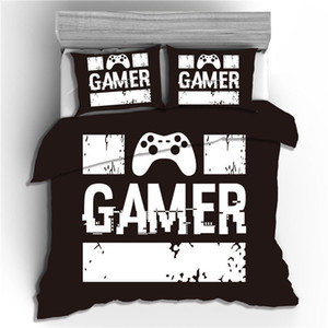 3D Hot-selling Home Textiles Bedding Gamer Game Handle Quilt Cover Three-piece Set sheet