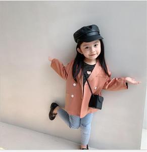 Nuevos INS Niños para Niños Chicas Blazer Coats NS nueva capa llegada muchachas ocasionales de los niños de algodón Blazers otoño completo de la manga de la chaqueta de las muchachas 2-7 años