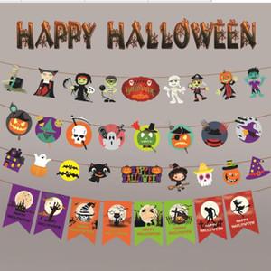 3M Happy Halloween Баннер Garland для Хэллоуина Главных висячих Флагов украшения украшение Дети Детского Благоприятным Творческого подарок