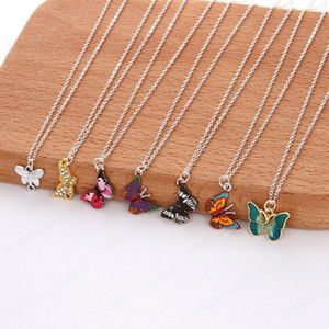 Fashion Butterfly Pendant Necklaces Personality Animal Necklace Simple Clavicle Chain for Women Girls Jewelry Birthday Gift
