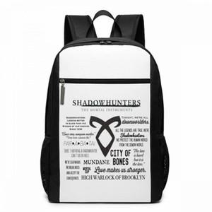 Shadowhunters Zaino Shadowhunters Zaini Uomini - Donne sacchetto di scuola adolescente Multiuso Trendy Borse
