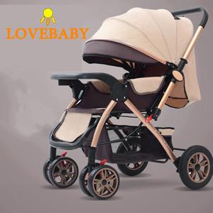 Bebek Arabası 3 In1 Yüksek Görünüm Pram Manzara Bebek Arabası 360 Rotasyon Seyahat Sistemi 0-3 Y Hafif 2 1 Bebek Arabası