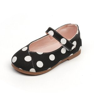 New Girls Cute Shoes Sweet Girl Flats Kids Casual Shoes Children's Sneakers With Dots Princess Party Black White Yellow 1-7 Yrs