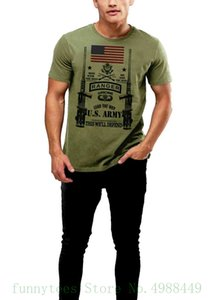 Armee-Förster-T-Shirt zeigen den Weg Us Flag Men Cotton Tee Special Ops Militär-T-Shirt Mode Tops