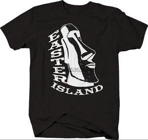 جزيرة الفصح العملاق رئيس Statuet شيرت سليم صالح قميص تي أزياء تصميم جديد للنساء رجال