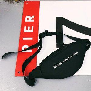 Women Unisex Waist Belt Bag Fanny Pack Letter Canvas Shoulder Messenger Bags Crossbody Chest Bags Bolsa Feminina sac a main 25