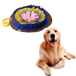 Pet Toys Dog Round Pet Sniffing Pad Bed Washable Training Blanket Feeding Mat Piecing Multi-color Dog Toys Pet Product
