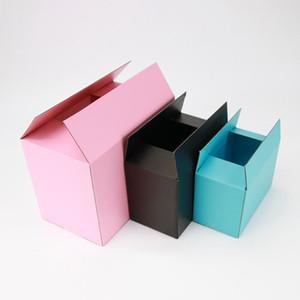 선물 상자 크리스마스 결혼식 발렌타인 데이 선물 상자 10pcs 포장 검은 색과 분홍색 종이 상자 3 층 골판지