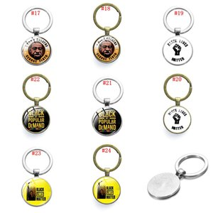I Cant Breathe Keychain Acrylic Letter Key Chain American Parade Slogan Pendant for Car Keys Bag Key Ring Black Lives Matter OWF2434