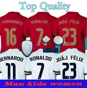 2020 2021 RONALDO soccer jerseys JOAO FELIX NEVES BERNARDO CANCELO RUBEN NEVES away white 20 21 national team Adult+ Kids kit football shirt