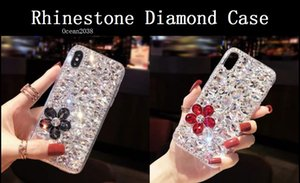 Diamond Case For Samsung Galaxy S10 S9 S8 iPhone XS Max XR 6 7 8 Plus Rhinestone Cover