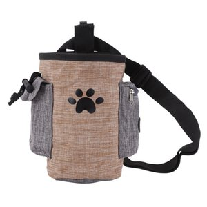 Dog Treat Pouch Pet Hands Free Training Walking Bag Dogs Outdoor Portable Backpack Carrier Snacks Litter Bag Waist Pack 1pcs