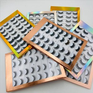 16 Pairs Natural False Eyelashes Wholesale Faux 3d Mink Lashes Bulk Individual Lashes Wispy Strip Eyelash Vendor Makeup