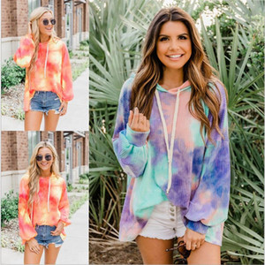 2020 Tie-Dye Hooded Long Sleeve Loose Pullover hoodie sweatshirts (High Top Quality)Up to 50%OFF