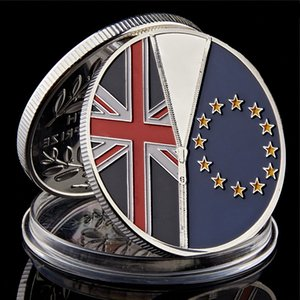 International Badge Souvenir 2016 UK Brexit Vote Independence Silver Plated Commemorative Coins