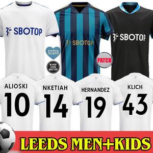 Leeds United Soccer Jerseys 리즈 유나이티드 홈 축구 유니폼 남성 + 키즈 20 21 유나이티드 T 로버츠 2020 2021 저지 Harrison COSTA Alioski Hernandez BAMFORD CLARKE Football Shirts