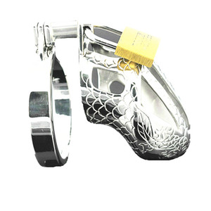 Male Chasity Cock Cage Stainless Steel Penis Lock Ring Chastity Devices Torture CBT Sex Toys Short QH947-ytj