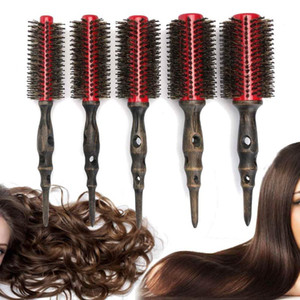 Professional Hair Round Brushes Retro Style Curler Combs Hairdressing Straight Quiff Roller Salon Styling Barber Tools