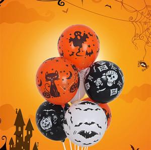 12Inch Balloon Hallowmas Decorative Balloons Festival Party Props Skull Pumkin Ghost Spider Cartoon Balloons Latex Airballoon Kids Toy D9713
