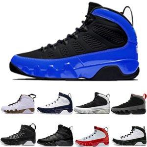 Hommes Basketball Chaussures 9 9S Noir Bleu Bleu Bred Gym Gym Rouge Og Space Confiture de Spirit Unc Sneakers Chaussures