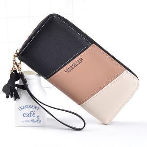Zipper Coin Purse Wallets Lady Purses Handbags Women Clutch Cards Holder Patchwork Girls Moneybag Wristlet Bag Billfold Wallet