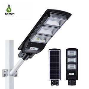 Интегрированная солнечная уличная лампа 30 Вт 60 Вт 90 Вт радиолокационный датчик движения наружное освещение IP67 водонепроницаемый сад настенные солнечные огни