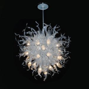 """In vetro soffiato Lampadario pendente di caduta illuminazione moderna lampadari a LED arte decorativa mano accende Diametro E14 Clear Color 24"""" 32"""" 40"""""""