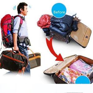 Large Space Saver Compressed Bag Vacuum Seal Compressed Bag Travel Clothes Quilt Compression Storage Organizer Package Bag