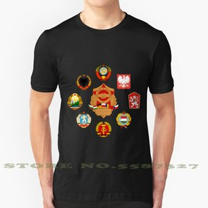 Pacto de Varsóvia Design legal na moda T-Shirt Socialism Tee comunista comunismo socialista Varsóvia Pacto Soviética União Soviética