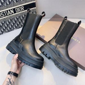 MoonMeek 2020 nuevo cuero genuino botas de cremallera de las mujeres de los remaches del punk otoño invierno cargadores de las señoras # 665 Moto