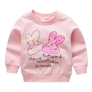 Autumn Winter New Arrival Baby Girls Sweatshirts Children Hoodies Cartoon Rabbit Full Top Girl Sweater Kids T-shirt Clothes