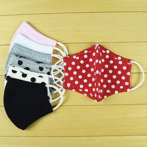 Knitted cotton contour fashion stylish design printed washable reusable cotton cloth facial mask black 3d sport bandans for adult kids